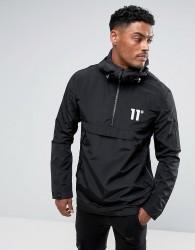 11 Degrees Lightweight Overhead Jacket In Black - Black