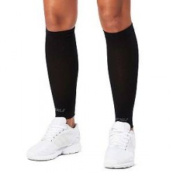 2XU Compression Performance Run Sleeves Unisex - Black - Small