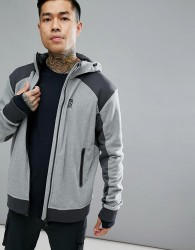 66 North Gunnar Hooded Logo Jacket In Grey - Grey
