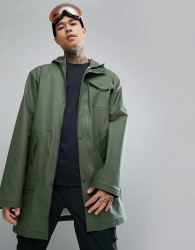 66 North Laugavegur Urban Waterproof Rain Jacket In Green - Green