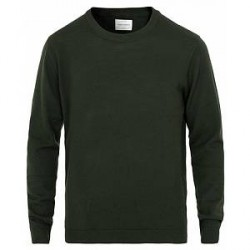A Day's March Lux Merino Crewneck Seaweed Green