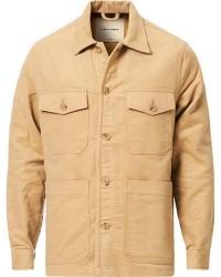 A Day's March Patch Pocket Moleskin Overshirt Sand men XL Beige