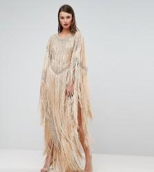 A Star Is Born Kimono Midi Dress With Tassles - Multi