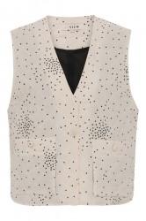 A-View - Vest - Rubi Vest - Off White With Black Dot