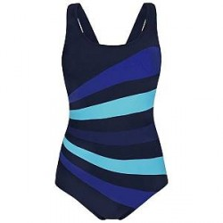 Abecita Action Swimsuit - Navy/Blue - D/E 48