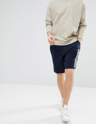 Abercrombie & Fitch Core Script Logo Sweat Shorts in Navy - Navy
