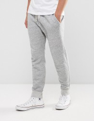 Abercrombie & Fitch Cuffed Joggers Core Slim Fit in Light Grey - Grey