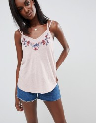 Abercrombie & Fitch Embroidered Vest - Pink