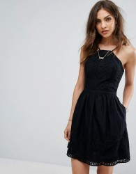 Abercrombie & Fitch Eyelet Dress - Black