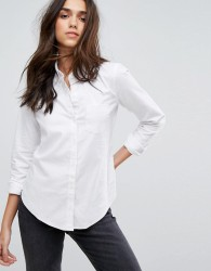 Abercrombie & Fitch Fitted Oxford Shirt - White