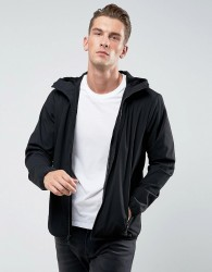 Abercrombie & Fitch Hooded Jacket Lightweight Nylon in Black - Black