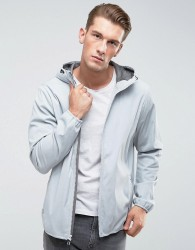 Abercrombie & Fitch Hooded Jacket Lightweight Nylon in Grey - Grey