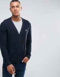 Abercrombie & Fitch Knit Cardigan Icon Logo in Navy - Navy