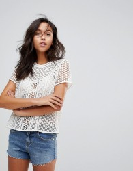 Abercrombie & Fitch Laser Cut Top - White