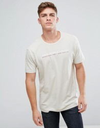 Abercrombie & Fitch Logo T-Shirt With Front Logo in Beige - Beige