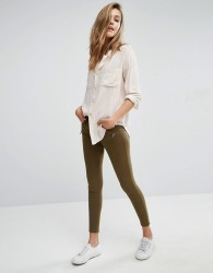 Abercrombie & Fitch Low Rise Skinny Trousers With Zips - Green