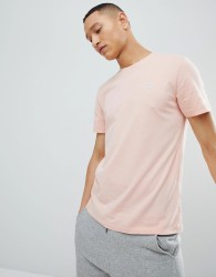Abercrombie & Fitch Moose Icon Logo Crew Neck T-Shirt in Coral - Pink