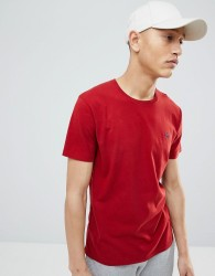 Abercrombie & Fitch Moose Icon Logo Crew Neck T-Shirt in Red - Red
