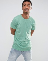 Abercrombie & Fitch Pocket T-Shirt Slim Fit Garment Dye in Green - Green