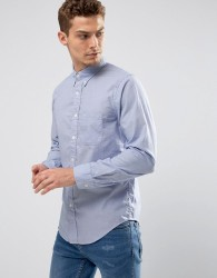 Abercrombie & Fitch Poplin Shirt Core Slim Fit in Blue - Blue