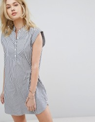 Abercrombie & Fitch Preppy Striped Collarless Dress - Multi