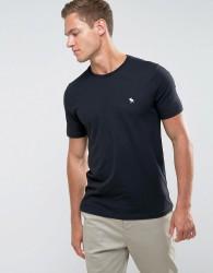Abercrombie & Fitch Slim Fit T-Shirt Crew Neck Logo in Black - Black