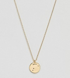 Accessorize Aries constellation gold pendant - Gold