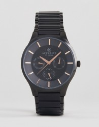 Accurist 7186.01 Bracelet Watch In Black - Black