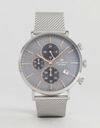 Accurist 7187.01 Chronograph Mesh Watch In Silver - Silver