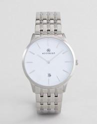 Accurist 7238 Minimal Dial Bracelet Watch - Silver