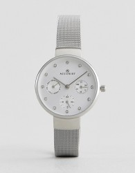 Accurist 8146 Silver Mesh Chronograph Watch - Silver