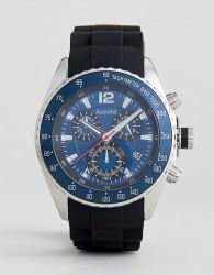 Accurist MS710N Silicon Strap Chronograph Watch in Black - Black