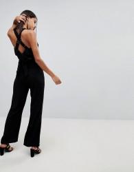 Adelyn Rae Anne Tie Back Jumpsuit - Black
