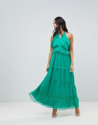 Adelyn Rae Frill Maxi Dress - Green