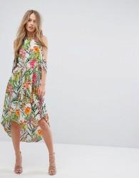 Adelyn Rae Lianna Hi-Low Printed Cold Shoulder Dress - Multi