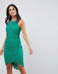 Adelyn Rae Louise Fishtail Sheath Lace Dress - Green