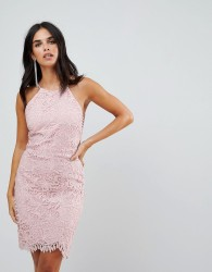 Adelyn Rae Louise Fishtail Sheath Lace Dress - Pink