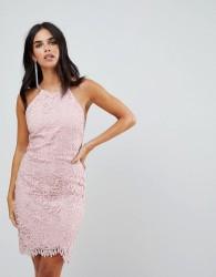Adelyn Rae Louise Fishtail Sheath Lace Dress - Pink