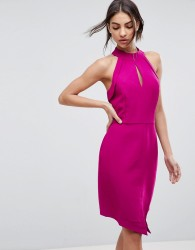 Adelyn Rae Marlena Halterneck Sheath Body Dress - Pink