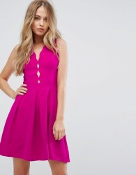 Adelyn Rae Serena Fit And Flare Scallop Dress - Pink