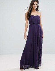 Adelyn Rae Strapless Maxi Dress - Purple