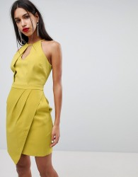 Adelyn Rae Tami Asymmetrical Sheath Dress - Yellow