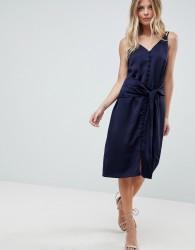 Adelyn Rae Viola Tie Slip Dress - Blue
