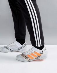 adidas Football Nemeziz x Messi Tango Astro Turf Trainers In White S77193 - White