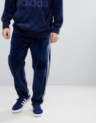 adidas Originals adicolor Velour Joggers In Tapered Fit In Navy CW4916 - Navy