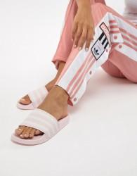 adidas Originals Adilette Slider Sandals In Pink - Pink
