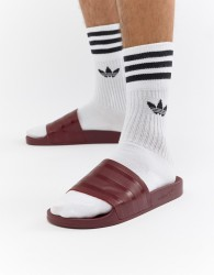 adidas Originals Adilette Sliders In Red CQ3095 - Pink