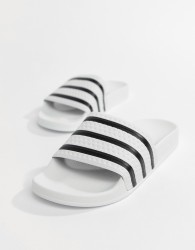 adidas Originals Adilette Sliders In White 280648 - White