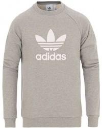 adidas Originals Trefoil Logo Crew Neck Sweatshirt Medium Grey Heather men XL Grå