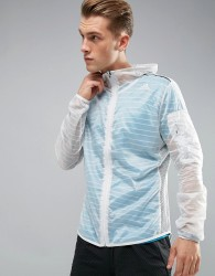 adidas Running TKO Jacket In White BR5623 - White